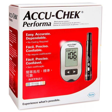 Kit Monitor Accu-Chek Performa Glicose