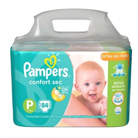 Fralda Pampers Confort Sec Giga Tamanho P