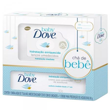 Kit Lenços Umedecidos + Creme Prevenção de Assaduras Baby Dove Hidratação Enriquecida