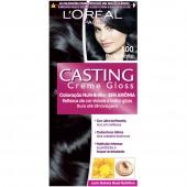 Coloração Permanente Casting Creme Gloss N° 100 Preto Noite