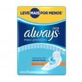 Absorventes Always Maxi Proteção Seca com Abas