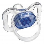 Chupeta Cristal Color Ortodôntica Azul Fase 1