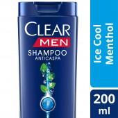 Shampoo Clear Men Anticaspa Ice Cool Menthol
