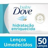 Lenços Umedecidos Baby Dove Hidratação Enriquecida