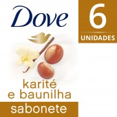 Kit Sabonete Dove Karite e Baunilha