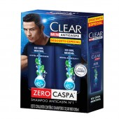 Kit Shampoo Anticaspa Clear Men Ice Cool Menthol
