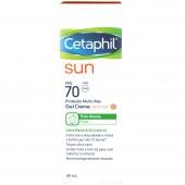 Protetor Solar Cetaphil Sun Gel Creme com Cor FPS70