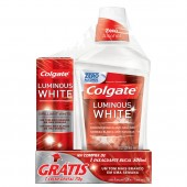 Enxaguante Bucal Colgate Luminous White + Creme Dental