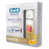 Kit Creme Dental Oral B 3D White + Condicionador Pantene