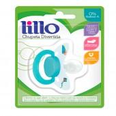 Chupeta de Silicone Lillo Divertida Tamanho 2 Cor Azul