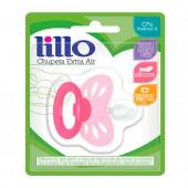 Chupeta de Silicone Lillo Extra Air Tamanho 2 Cor Rosa