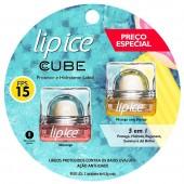 Kit Protetor Labial Cube Lip Ice Morango + Protetor Labial Pêssego com Manga