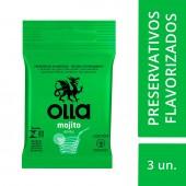 Preservativo Olla Lubrificado Mojito Drinks