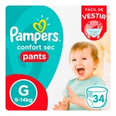 Fralda Pampers Confort Sec Pants Tamanho G