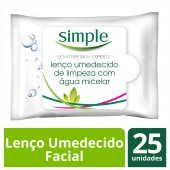 Lenços Umedecidos Facial Simple Micelar