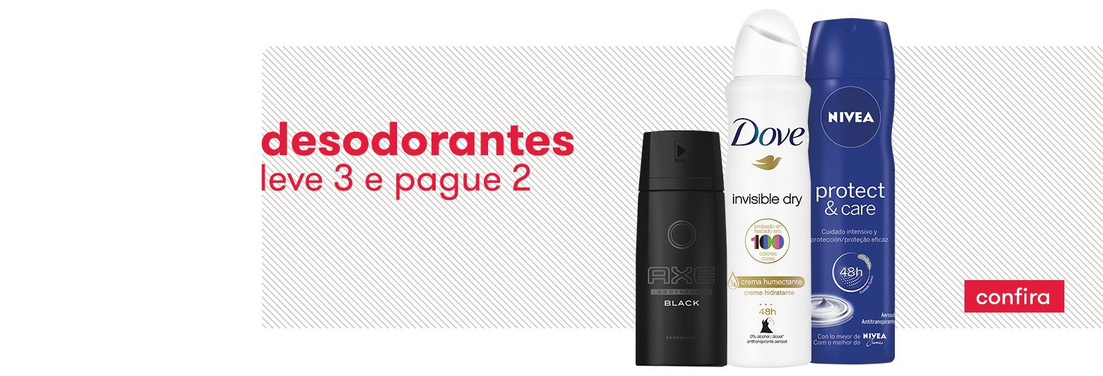 Leve3 Pague2 Desodorantes