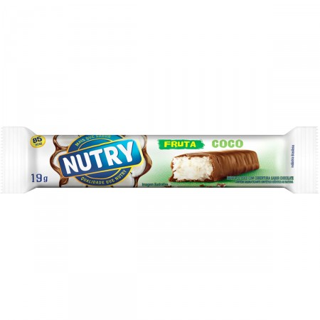 Barra de Frutas Nutry Sabor Coco Com Chocolate