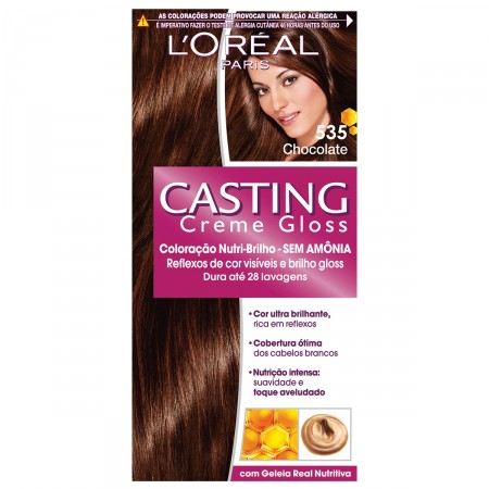 Coloração Permanente Casting Creme Gloss N° 535 Chocolate
