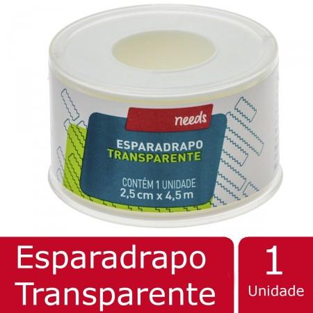 Esparadrapo Needs Transparente 2,5cm X 4,5m