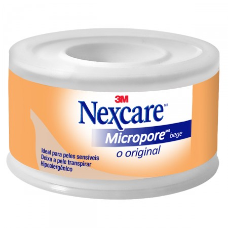 Fita Micropore Nexcare Bege 25mm x 4,5m