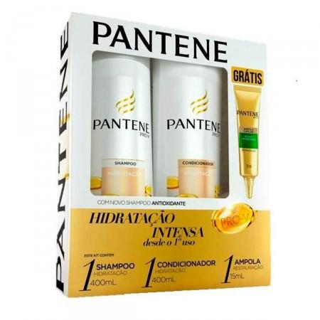 Shampoo + Condicionador Pantene Hidratação + Ampola Restauração